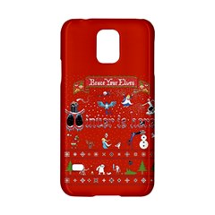 Winter Is Here Ugly Holiday Christmas Red Background Samsung Galaxy S5 Hardshell Case