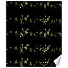 Yellow Elegant Xmas Snowflakes Canvas 20  X 24