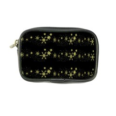 Yellow elegant Xmas snowflakes Coin Purse