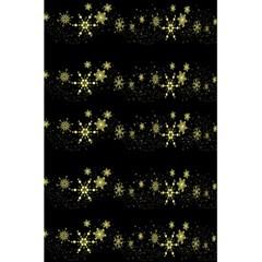 Yellow elegant Xmas snowflakes 5.5  x 8.5  Notebooks