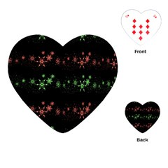 Decorative Xmas snowflakes Playing Cards (Heart)