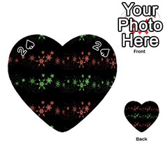 Decorative Xmas snowflakes Playing Cards 54 (Heart)