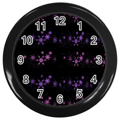 Purple elegant Xmas Wall Clocks (Black)
