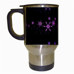 Purple elegant Xmas Travel Mugs (White)