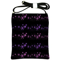 Purple elegant Xmas Shoulder Sling Bags