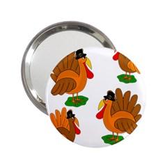 Thanksgiving turkeys 2.25  Handbag Mirrors