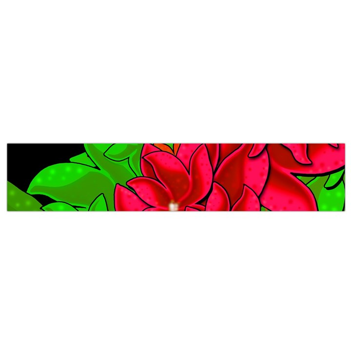Xmas red flowers Flano Scarf (Small)