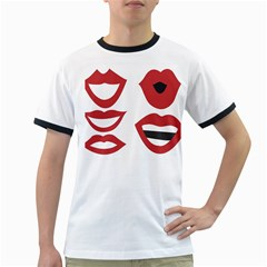 Lip Sexy Red Ringer T Shirts