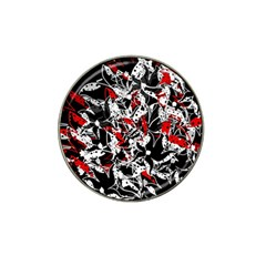 Red abstract flowers Hat Clip Ball Marker