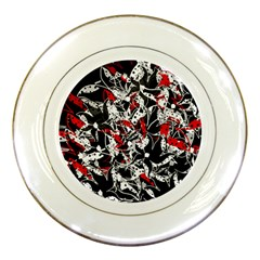 Red abstract flowers Porcelain Plates