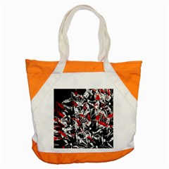 Red abstract flowers Accent Tote Bag