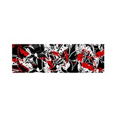 Red abstract flowers Satin Scarf (Oblong)