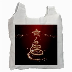Shiny Christmas Tree Recycle Bag (two Side)