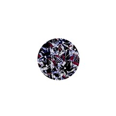 Decorative abstract floral desing 1  Mini Buttons