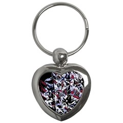 Decorative abstract floral desing Key Chains (Heart)