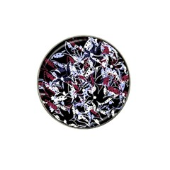 Decorative abstract floral desing Hat Clip Ball Marker