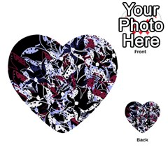 Decorative abstract floral desing Multi-purpose Cards (Heart)