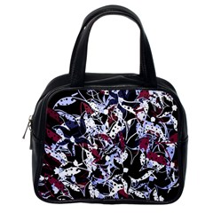 Decorative abstract floral desing Classic Handbags (One Side)