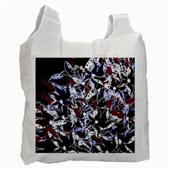 Decorative abstract floral desing Recycle Bag (One Side)