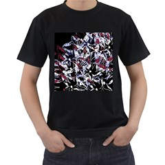 Decorative abstract floral desing Men s T-Shirt (Black)