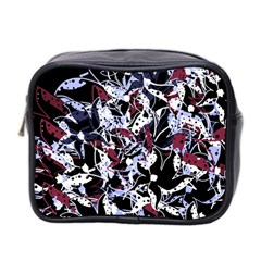 Decorative abstract floral desing Mini Toiletries Bag 2-Side