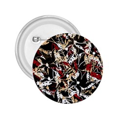 Abstract floral design 2.25  Buttons
