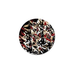 Abstract floral design Golf Ball Marker
