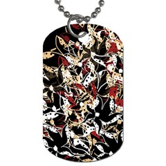 Abstract floral design Dog Tag (Two Sides)