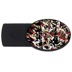 Abstract floral design USB Flash Drive Oval (2 GB)