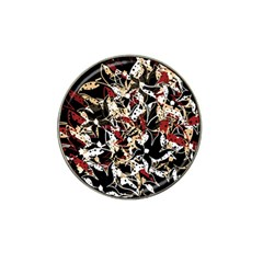 Abstract floral design Hat Clip Ball Marker (10 pack)