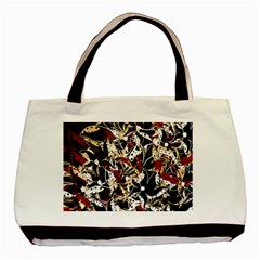 Abstract floral design Basic Tote Bag (Two Sides)