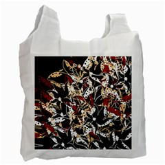 Abstract Floral Design Recycle Bag (two Side)