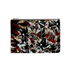 Abstract floral design Cosmetic Bag (Medium)
