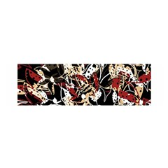 Abstract floral design Satin Scarf (Oblong)