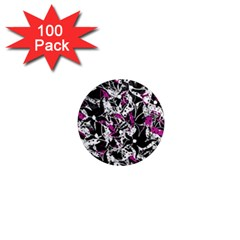 Purple abstract flowers 1  Mini Magnets (100 pack)