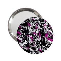 Purple abstract flowers 2.25  Handbag Mirrors
