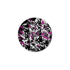 Purple abstract flowers Golf Ball Marker (10 pack)