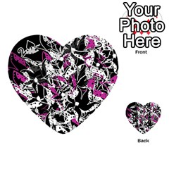 Purple abstract flowers Playing Cards 54 (Heart)