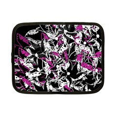 Purple abstract flowers Netbook Case (Small)