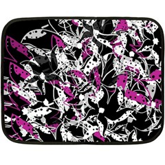 Purple abstract flowers Fleece Blanket (Mini)