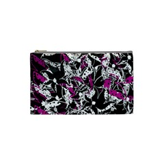 Purple abstract flowers Cosmetic Bag (Small)