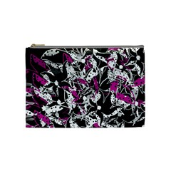 Purple abstract flowers Cosmetic Bag (Medium)