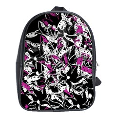 Purple abstract flowers School Bags(Large)