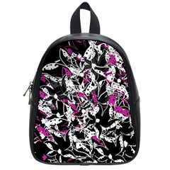 Purple abstract flowers School Bags (Small)