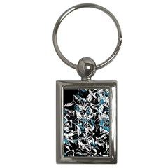 Blue abstract flowers Key Chains (Rectangle)