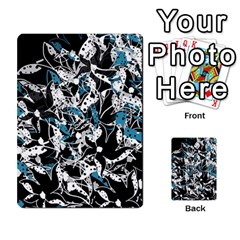 Blue Abstract Flowers Multi Purpose Cards (rectangle)