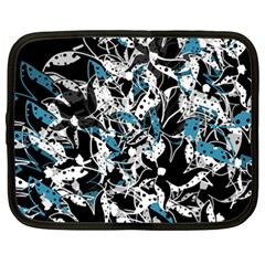 Blue abstract flowers Netbook Case (XXL)