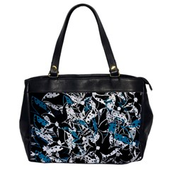 Blue abstract flowers Office Handbags
