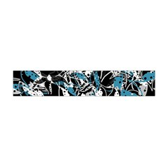 Blue Abstract Flowers Flano Scarf (mini)