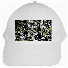 Green floral abstraction White Cap